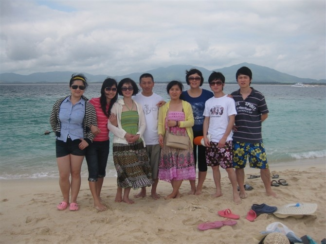 The company trip in 2010 in Hainan
