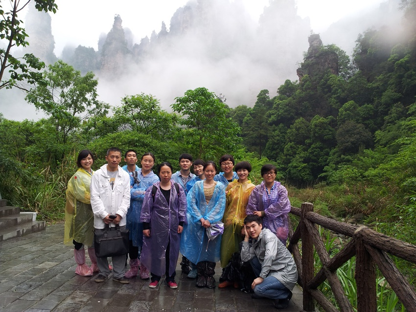 The sales company organized group travel