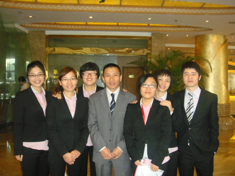 The sales team attending the China Coating Show in Shanghai